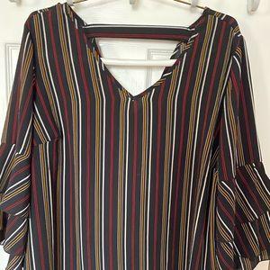 Unique spectrum Burgundy blouse
